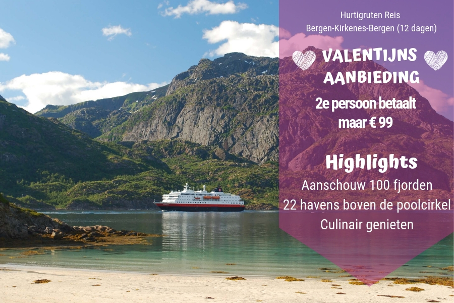 Hurtigruten Valentijns Aanbieding
